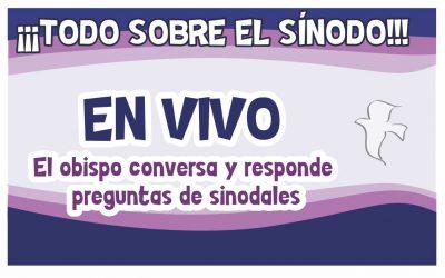 EL OBISPO CONVERSARÁ EL VIERNES CON SINODALES ¡EN VIVO!