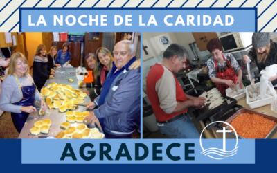 LA NOCHE DE LA CARIDAD AGRADECE.